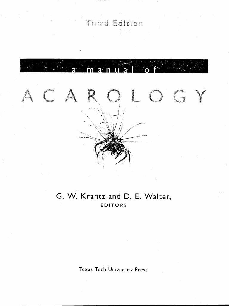 acarology pdf rh scribd com Acarology and Human Health Acarology Books