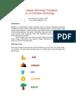 Dasar Astrologi Tiongkok Basic Chinese Astrology (oleh Ivan Taniputera)