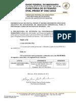 Edital Nº 0492013 Prorrogação CEI