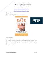 The Race Myth (Excerpted)