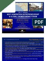 2013 Metropole Global Forum Program