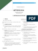 I. Metodologia de Estudo