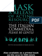 David Griffiths Mask a Release of Acting Resources Volume Three - The Italian Commedia & Please Be Gentle 1998
