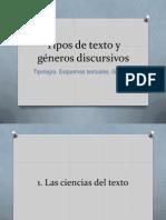 Tipos de texto y géneros discursivos