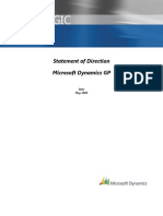 Microsoft Dynamics GP Statement of Directioni