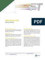 FTM Business Template - Sales Scorecard