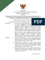 PERATURAN  MENTERI KELAUTAN DAN PERIKANAN REPUBLIK INDONESIA NOMOR 26/PERMEN-KP/2013  TENTANG PERUBAHAN ATAS PERATURAN MENTERI KELAUTAN DAN PERIKANAN NOMOR  PER.30/MEN/2012 TENTANG USAHA PERIKANAN TANGKAP DI WILAYAH PENGELOLAAN PERIKANAN NEGARA REPUBLIK INDONESIA