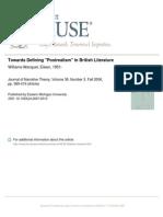 Towards Defining Postrealism in British Literature