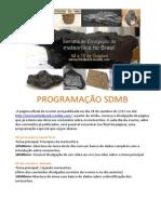 PROGRAMAÇÃO SDMB
