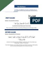 Six Kalimas of ISLAM