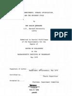 Bernanke Dissertation 1979 Harvard