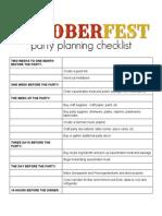 Oktoberfest Timeline Checklist