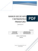 Manejo GES de Hipoacusia y Retinopatía