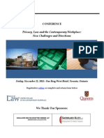 Privacy Law and the Contemporary Workplace November 2013