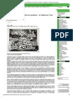 Autres Brésils - La réforme agraire du Brésil en question_ un débat qui n'est pas à l'ordre du jour