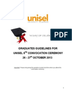 Guideline 8th Graduation Ceremony