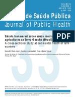 Estudo transversal sobre saúde mental de agricultores da Serra Gaúcha (Brasil)