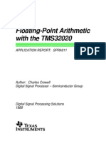 Floating-Point Arithmetic TMS32020