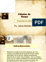 Fábulas de Esopo.Formación de valores. Ps. Jaime Botello Valle