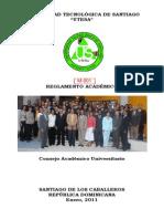M-001 Reglamento Académico de UTESA - Enero-2011