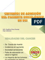 Admision Cancer
