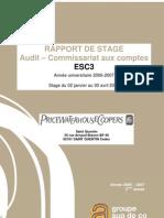 raport de stage  commissariat aux comptes
