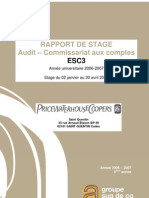 raport de stage  commissariat aux comptes