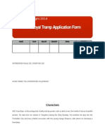 Royal Tramp Application