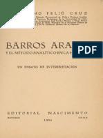 Barros Arana y el método analítico en la historia. Un ensayo de interpretación. 1934