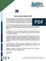 Bello recibe el Clásico RCN