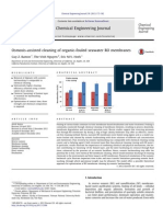 Osmosis-assisted cleaning of organic-fouled seawater RO membranes