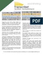 Transcribe Flyer