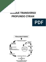 Masaje Transverso Profundo Cyriax