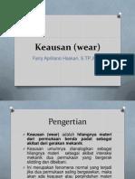 Keausan (Wear)