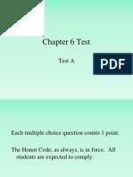 Chapter 6 Test Skeletal System