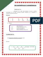 PROGRESIONES ARITMÉTICAS Y GEOMÉTRICA1