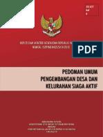 Buku Pedoman Umum Pengembangan Desa Dan Kelurahan Siaga Aktif