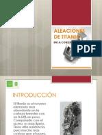 EXPOCICIÓN ALEACIONES DE TITANIO