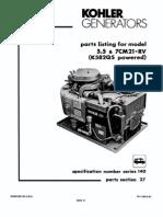 Kolher 7000 Parts Manual