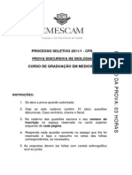 ProvaDiscursivaDeBiologia2011-1