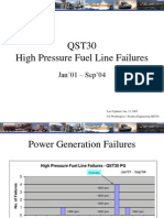 High Pressure Fuel Line Failures- QST30 n