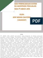 Analisis Perancangan Sistem Abadi Jaya