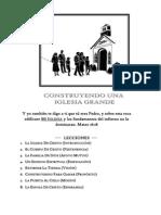 Construyendo Una Iglesia Grande-expositor