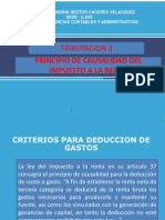 Criterios Para Deducir Gastos