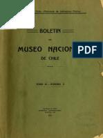 Boletín del Museo Nacional de Chile N° 2, T.III. 1911