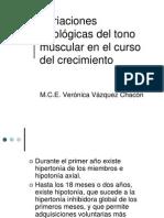 Variaciones fisiológicas del tono muscular en el curso