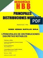 Distribuciones de Probabilidades Notables Upci Espel 2013-i