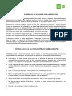 Lectura 1 - Normas de Seguridad y Metodologia de Trabajo en Un Laboratorio