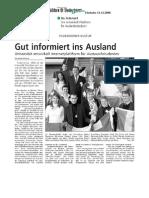 2008-12-11 Westfälisches Volksblatt - Gut informiert ins Ausland