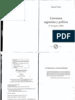 viñas, david - literatura argentina y política